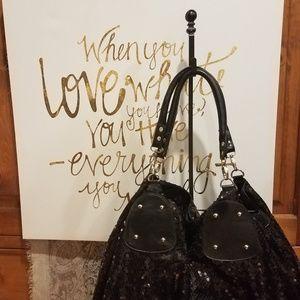 Handbags - Sparkly Sparkle Sparklefest Black Tote Bag